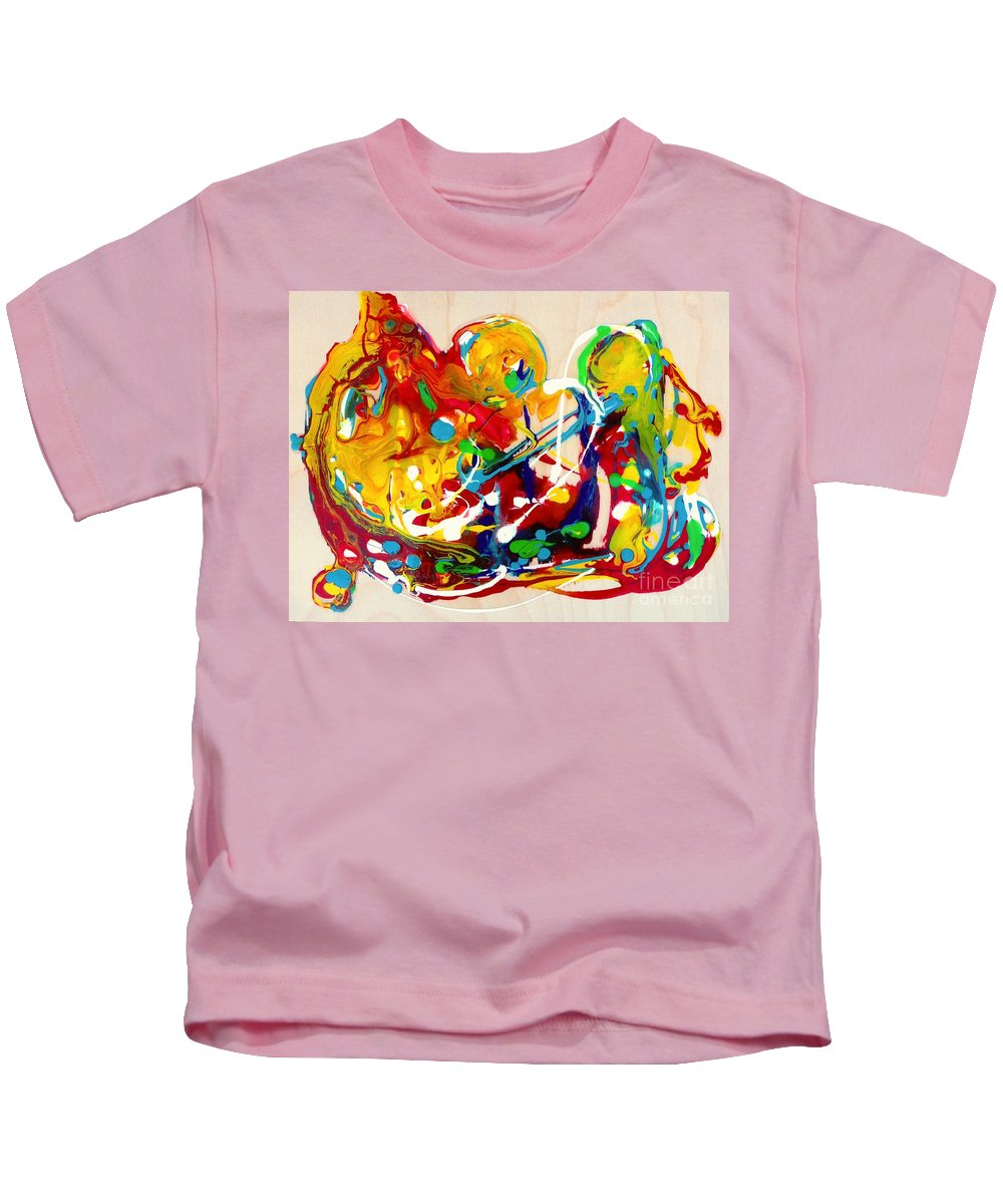 Painting Kids T-Shirt featuring the painting Plenty Of Gifts For Everybody by Cristina Stefan