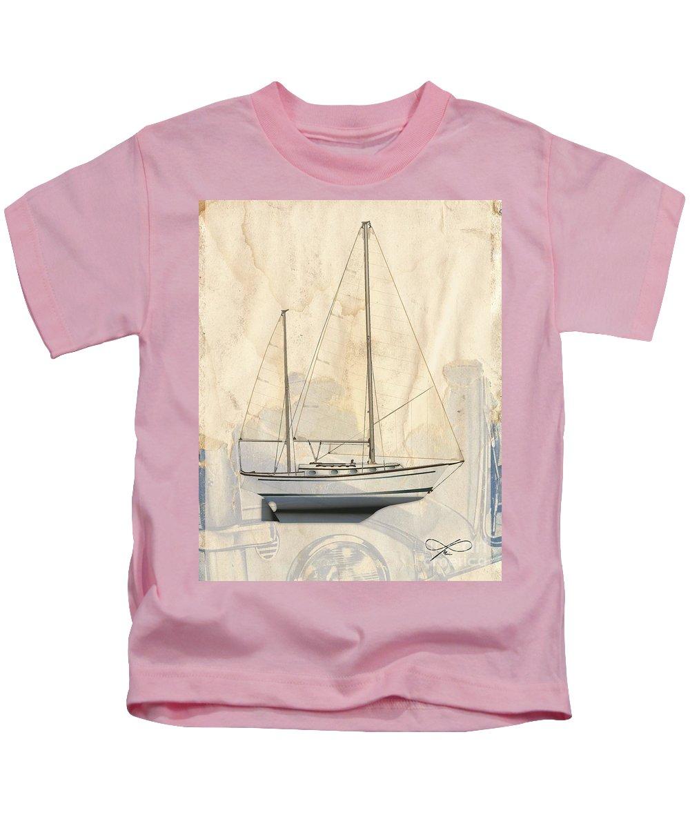 Regina Gallant Kids T-Shirt featuring the drawing Princess Dreams by Regina Marie Gallant