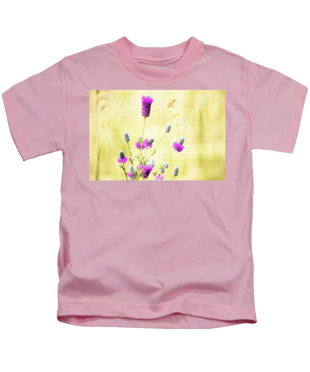 Flower Kids T-Shirt featuring the photograph Purple Passion Texture by Bonfire Photography