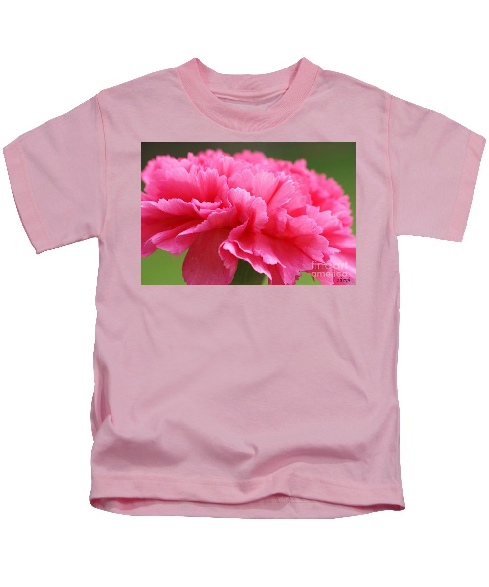 Carnation Kids T-Shirt featuring the photograph Red Carnation by Carol Lynch