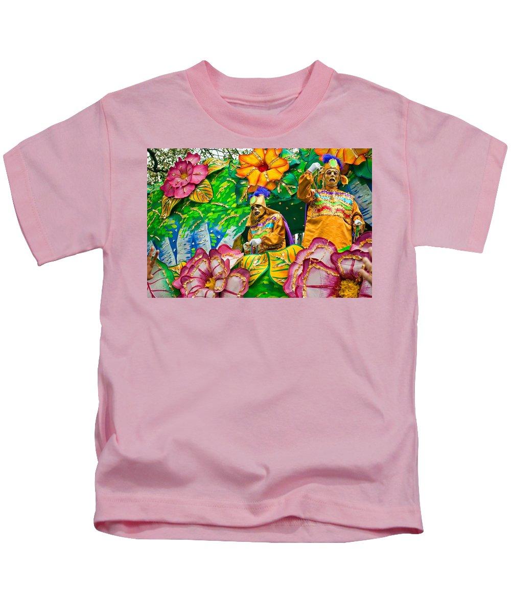 New Orleans Kids T-Shirt featuring the photograph Rex Mardi Gras Parade X by Steve Harrington