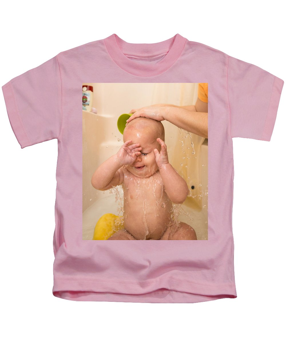 Bill Pevlor Kids T-Shirt featuring the photograph Rinse And Repeat by Bill Pevlor