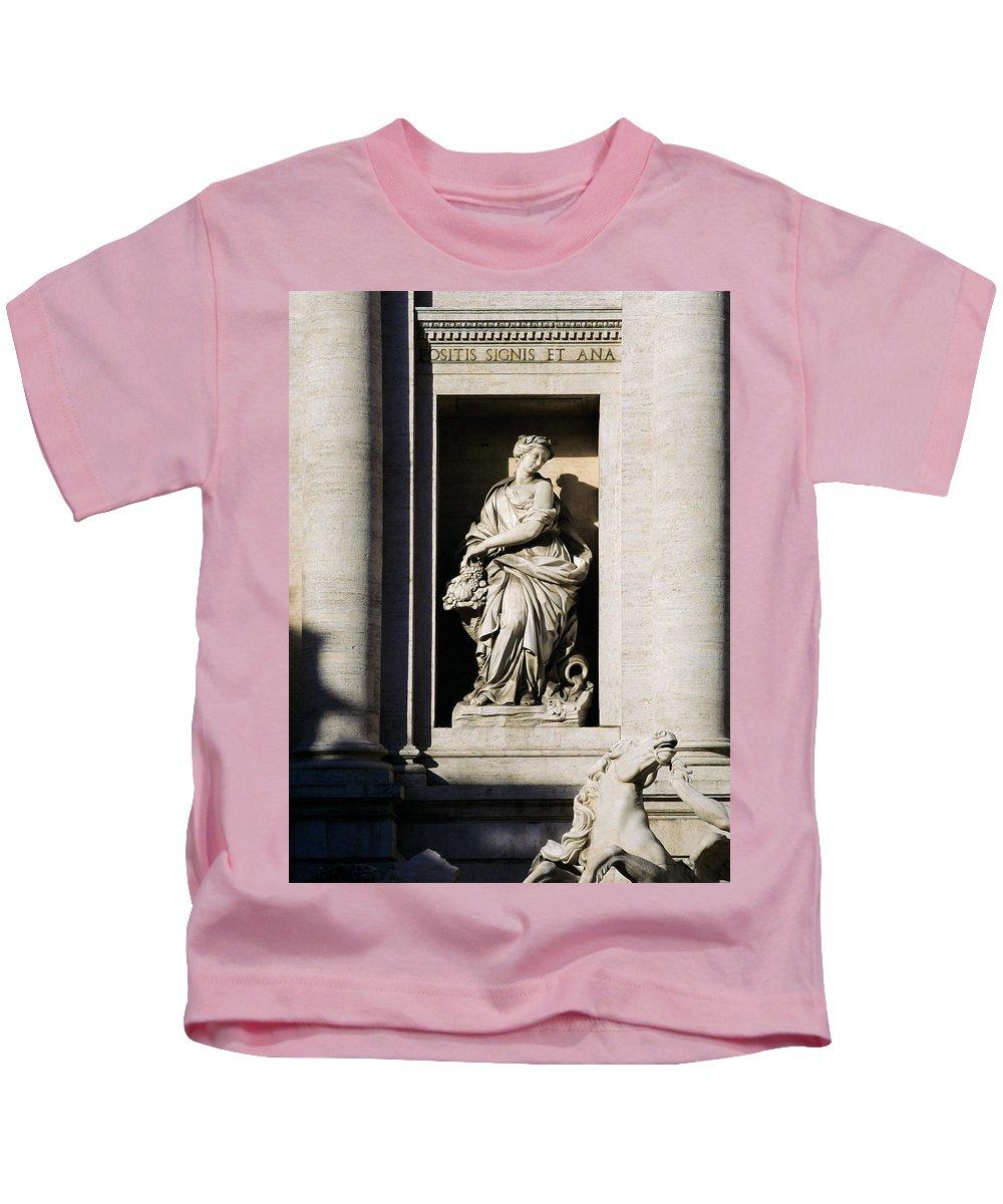 Roman Kids T-Shirt featuring the photograph Roman Statue by Mark Greenberg