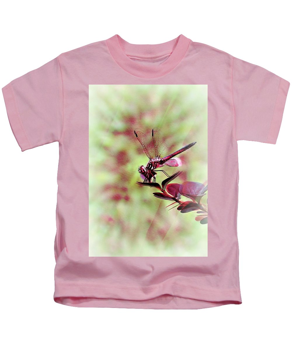 Abstract Kids T-Shirt featuring the photograph Ruby by Barbara S Nickerson