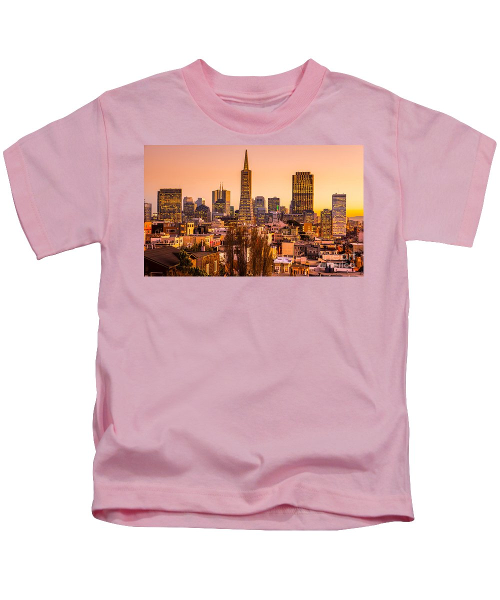 Francisco Kids T-Shirt featuring the photograph San Francisco Skyline by Luciano Mortula