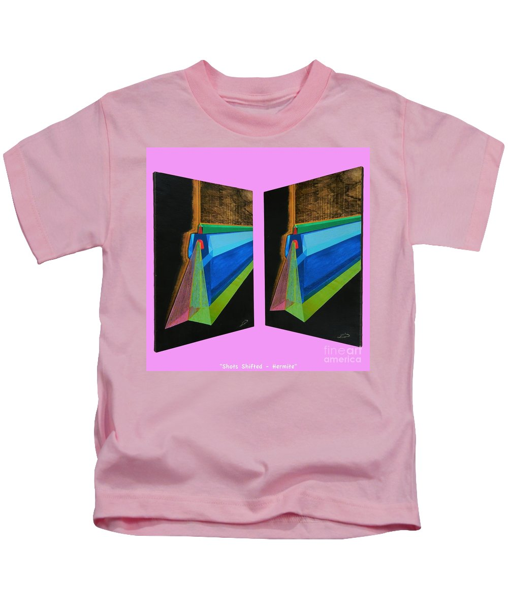 Spirituality Kids T-Shirt featuring the painting Shots Shifted - Hermite 7 by Michael Bellon