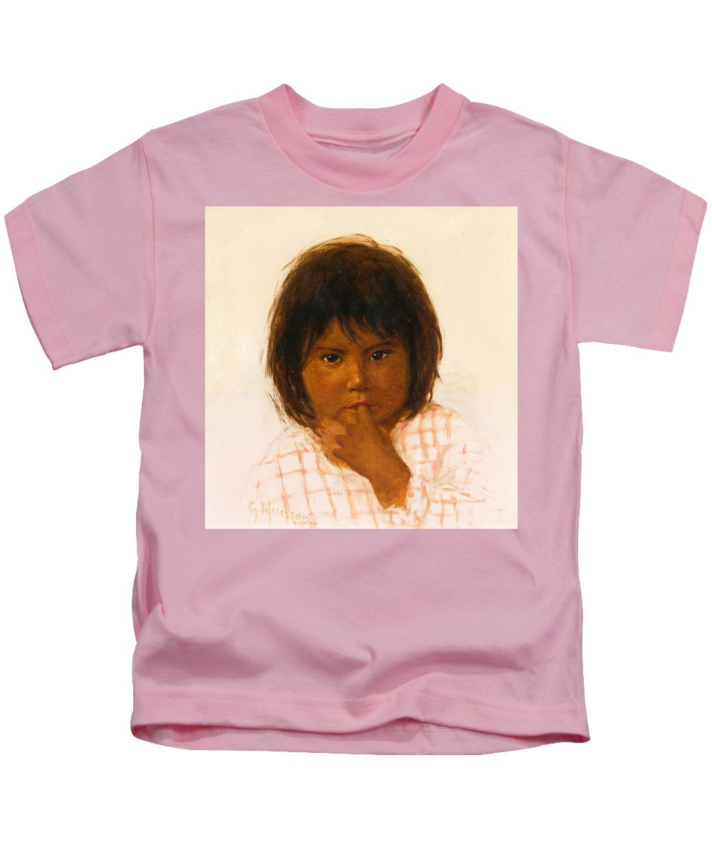 Grace Carpenter Hudson Kids T-Shirt featuring the painting Shy One by Grace Carpenter Hudson
