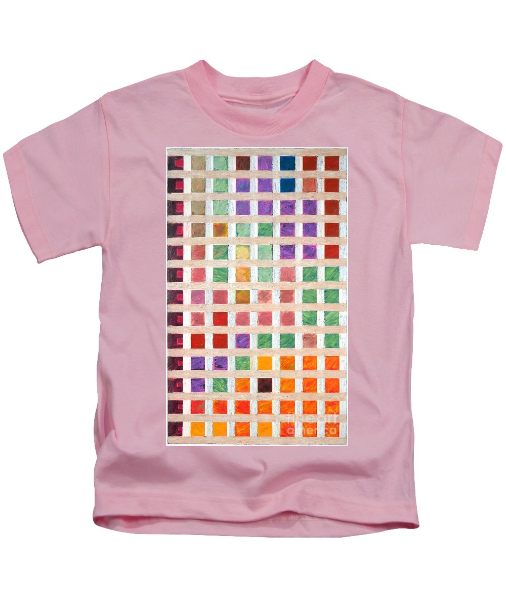 Landscape Kids T-Shirt featuring the painting Silicon Valley by Allan P Friedlander