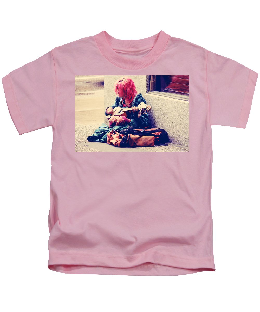 Street Kids T-Shirt featuring the photograph Singing To Bees by The Artist Project