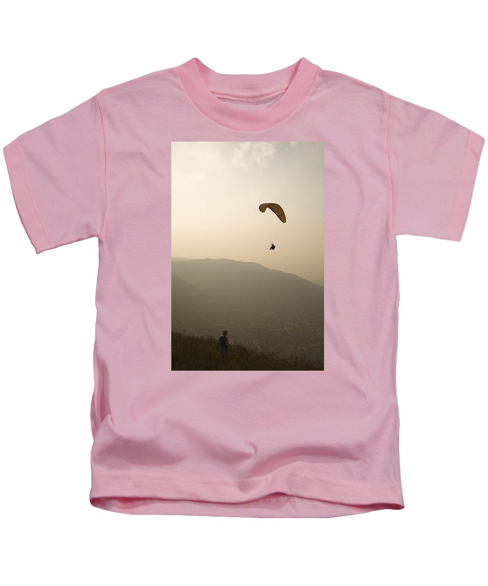 View Kids T-Shirt featuring the photograph Skc 4610 View From The Top by Sunil Kapadia