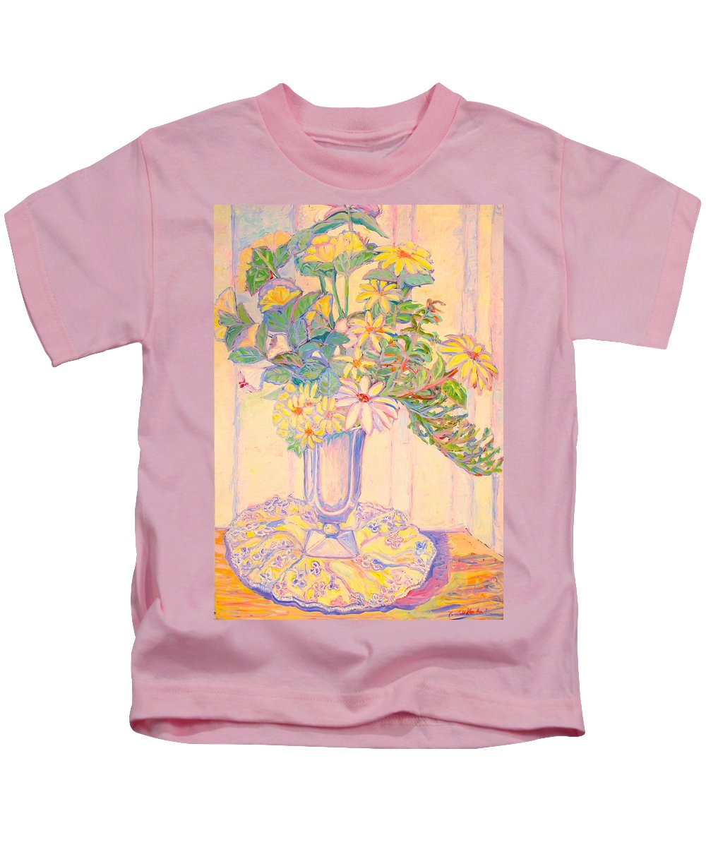 Flowers Kids T-Shirt featuring the painting Soft Light by Kendall Kessler