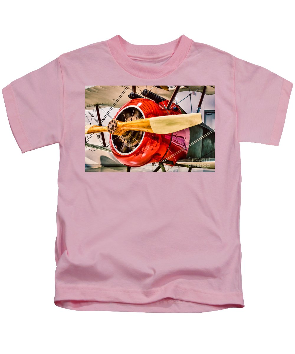 Aircraft Kids T-Shirt featuring the photograph Sopwith Camel by Inge Johnsson