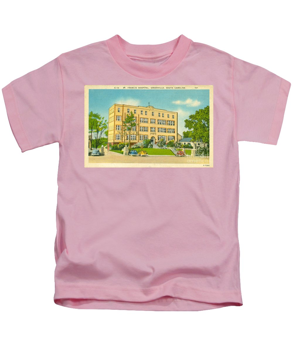 St. Francis Hospital Kids T-Shirt featuring the photograph St. Francis Hospital by Dale Powell