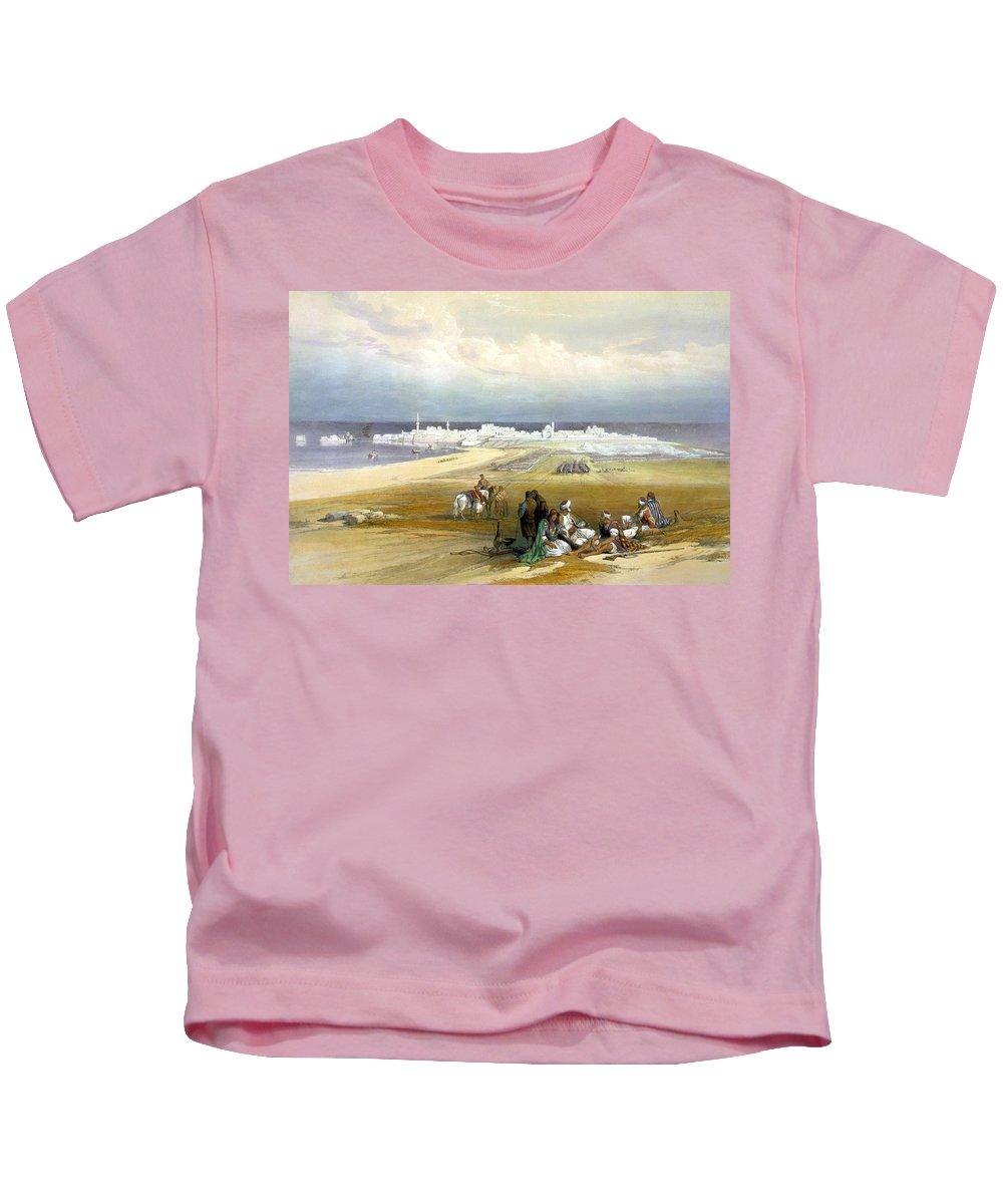 Acre Kids T-Shirt featuring the photograph St. Jean D'acre April 24th 1839 by Munir Alawi