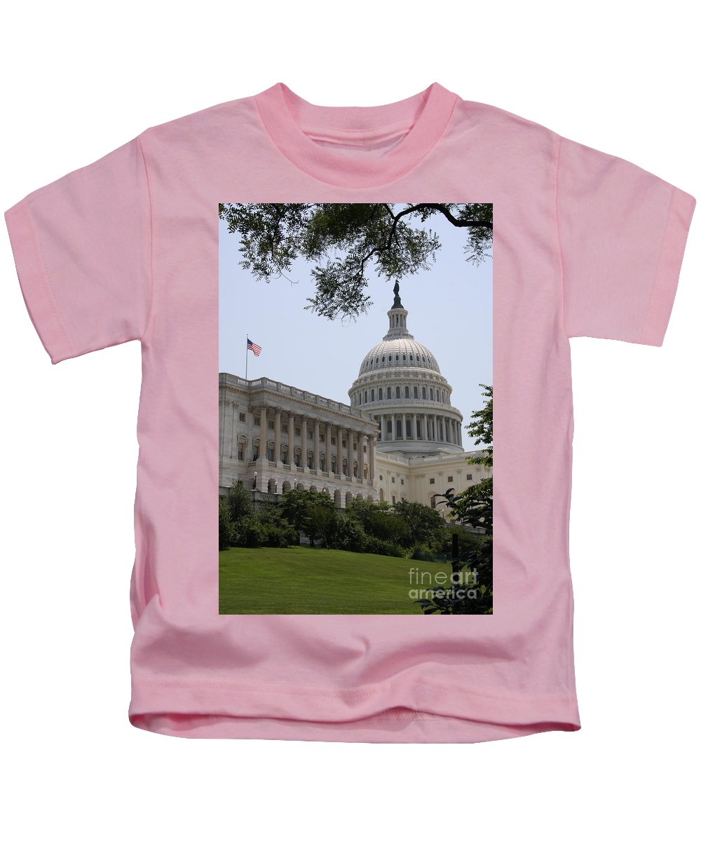 Capitol Kids T-Shirt featuring the photograph State Capitol Washington Dc by Christiane Schulze Art And Photography