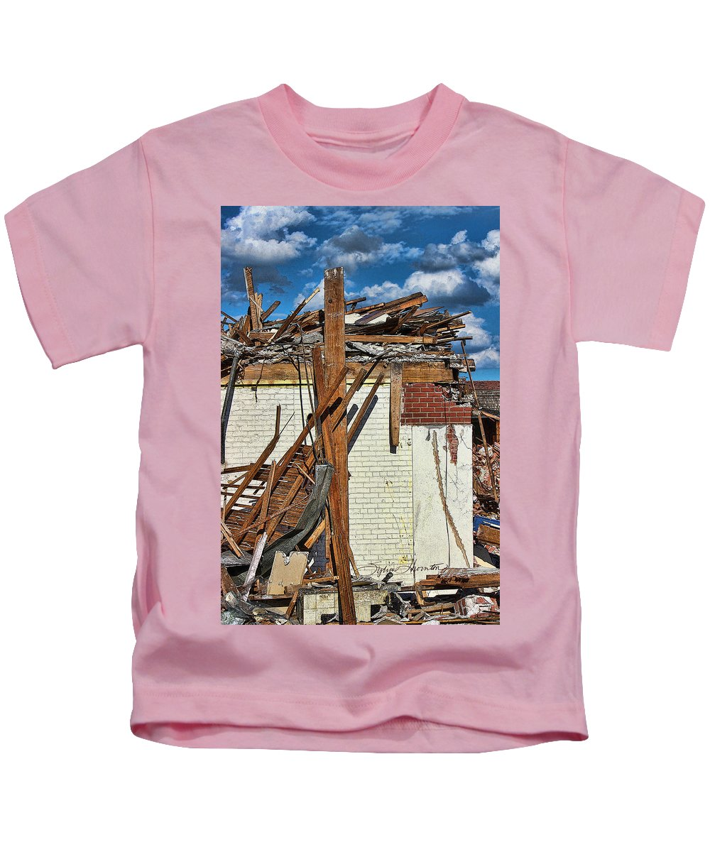 Demolition Kids T-Shirt featuring the photograph Sticks And Stones by Sylvia Thornton