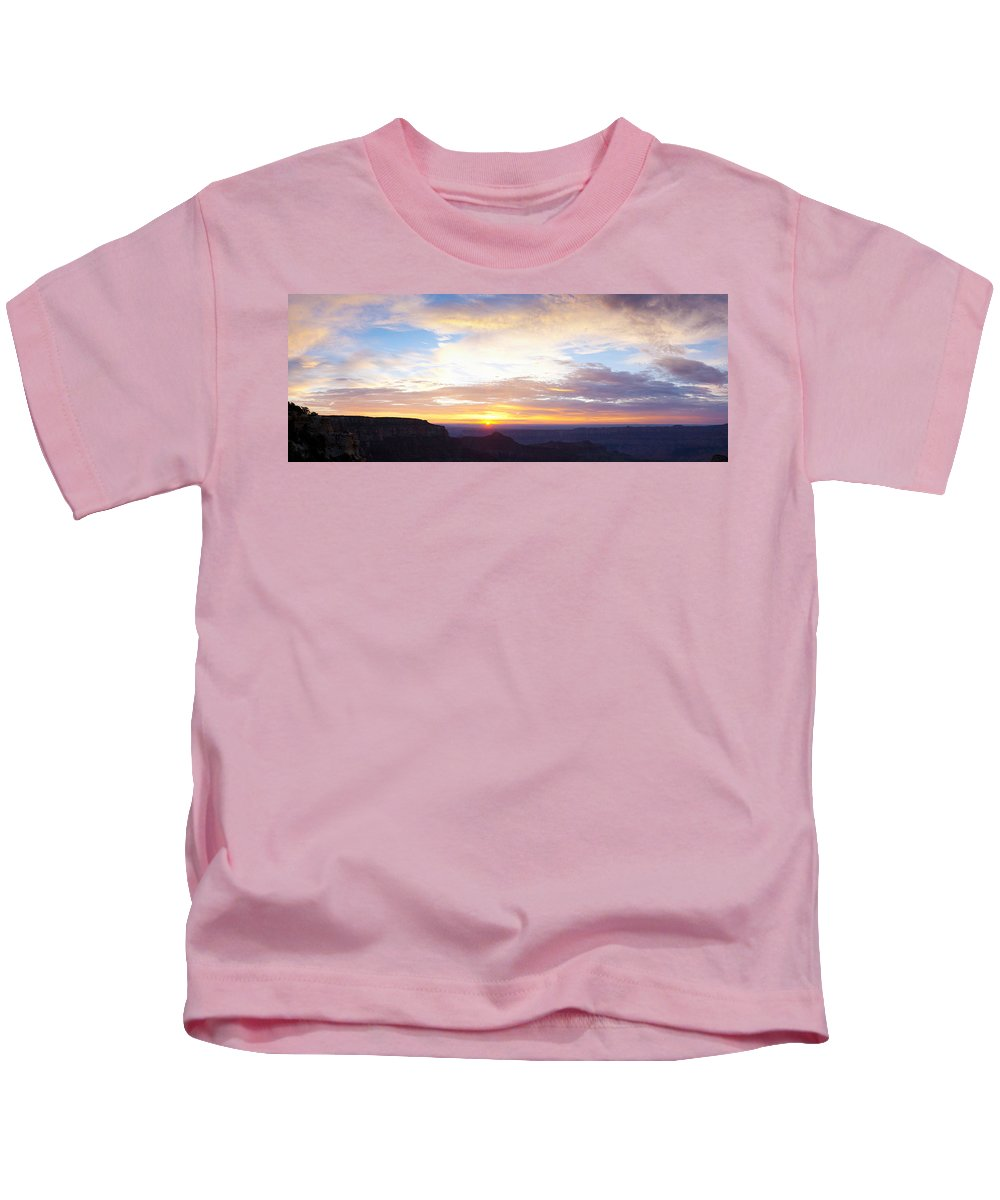 Photography Kids T-Shirt featuring the photograph Sunrise On The Colorado Plateau by Panoramic Images