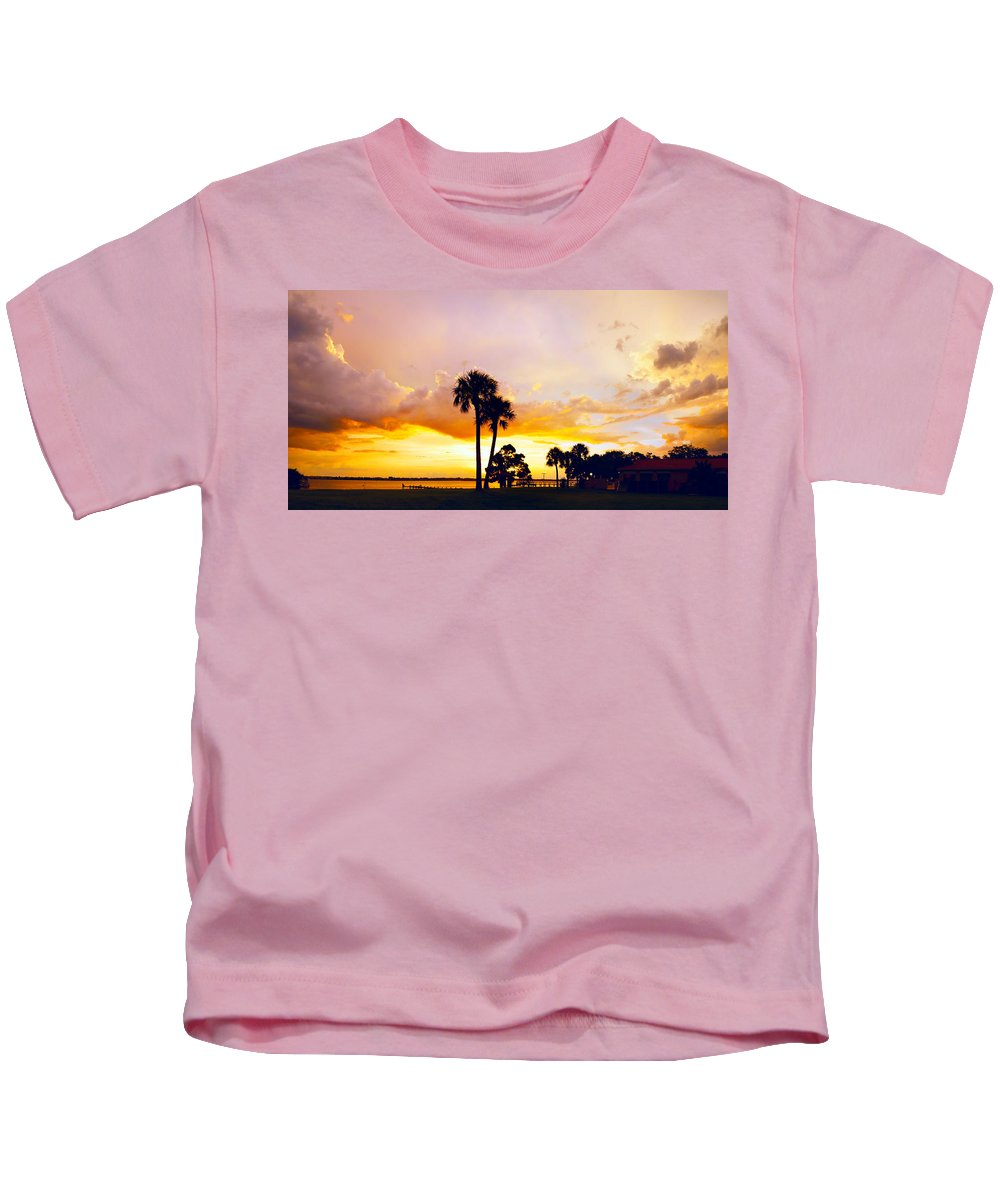 Landscape Kids T-Shirt featuring the photograph Sunset Panorama by Francesa Miller