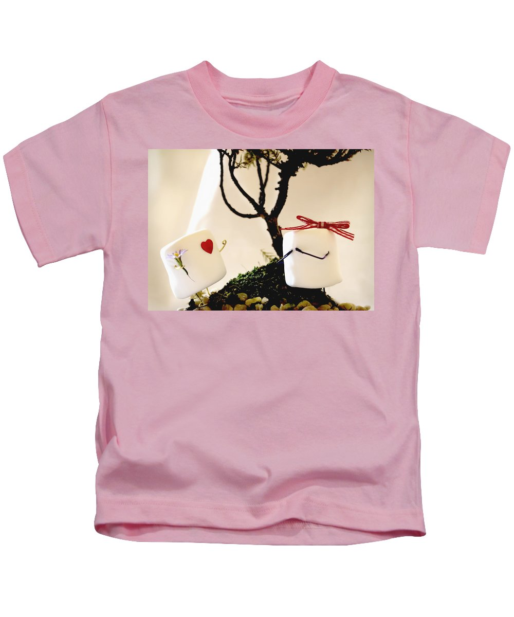 Valentine Kids T-Shirt featuring the photograph Sweet Surprise by Heather Applegate