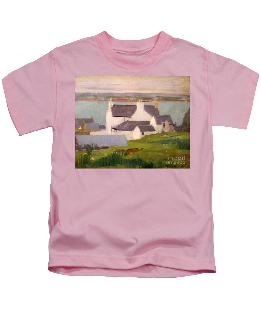 Cadell Kids T-Shirt featuring the painting The Artists Studio Iona by Francis Campbell Boileau Cadell