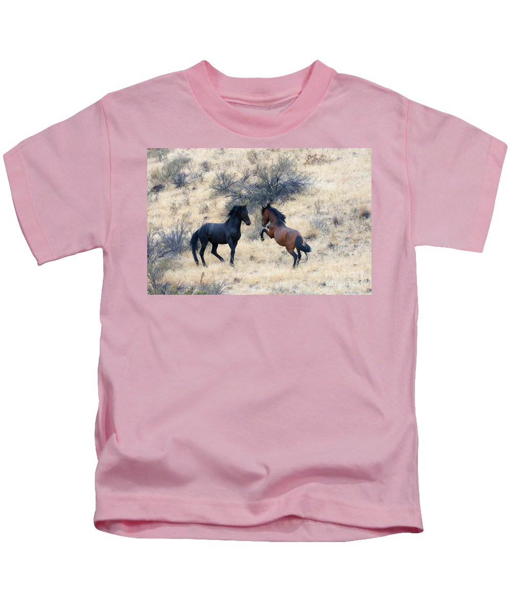 Challenge Kids T-Shirt featuring the photograph The Challenge by Mike Dawson