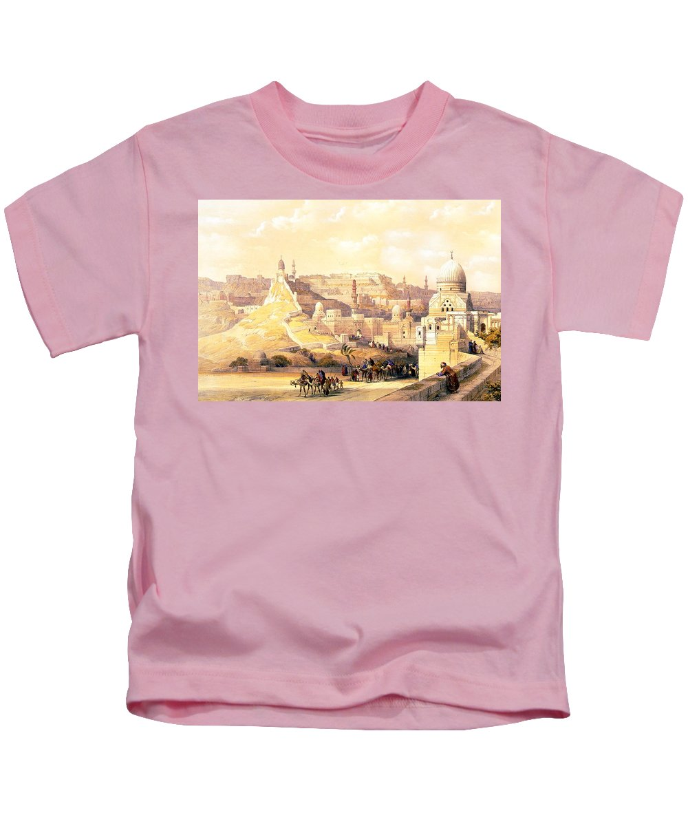 Cairo Kids T-Shirt featuring the photograph The Citadel Of Cairo Residence Of Mehemit Ali by Munir Alawi