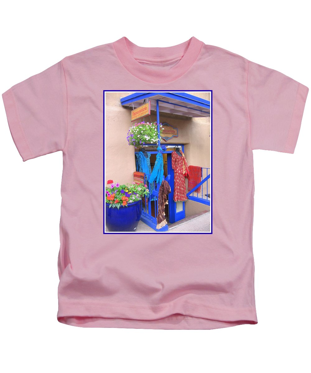 New Mexico Kids T-Shirt featuring the photograph The Dress Shop - New Mexico by Dora Sofia Caputo Photographic Design and Fine Art