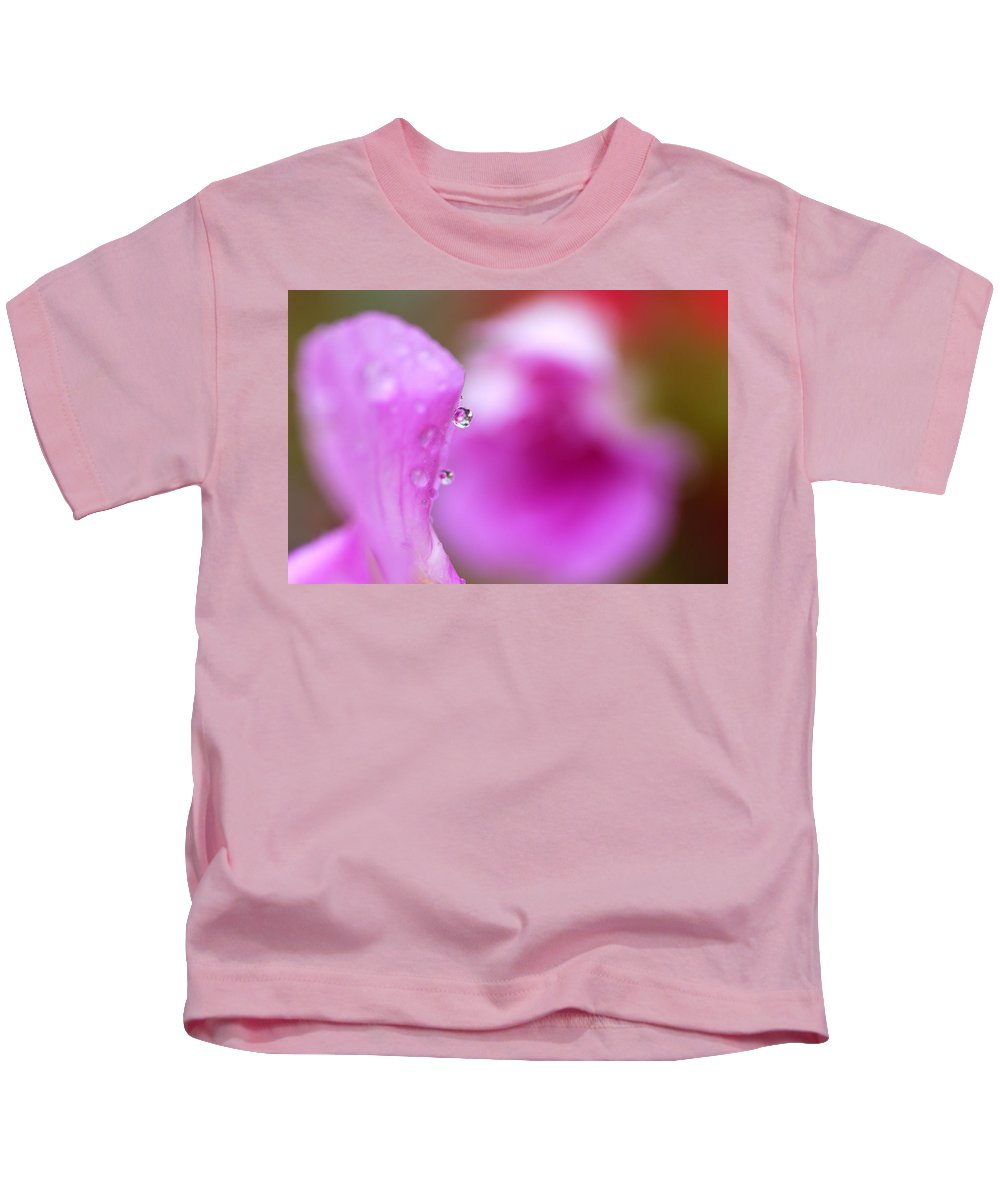 Flower Kids T-Shirt featuring the photograph The Flower Enclosed In A Small Drop Of Water by Guido Montanes Castillo