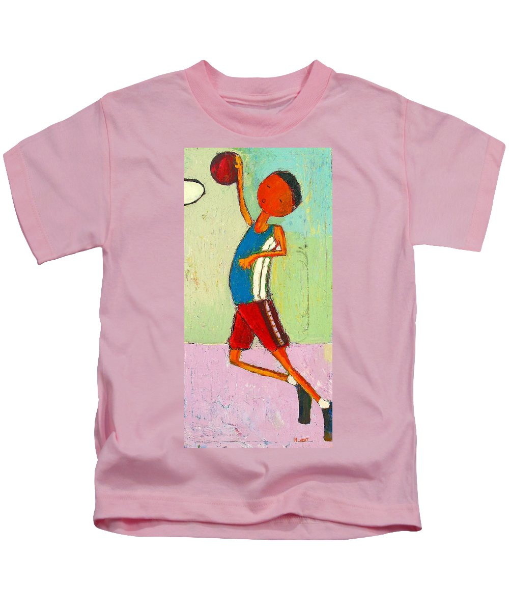 Abstract Kids T-Shirt featuring the painting The Little Champion by Habib Ayat