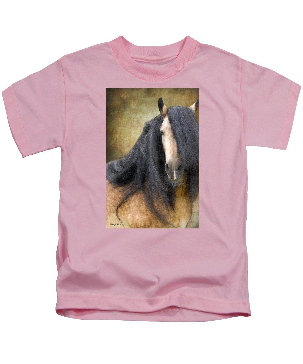 Stallion Kids T-Shirt featuring the photograph The Stallion by Fran J Scott