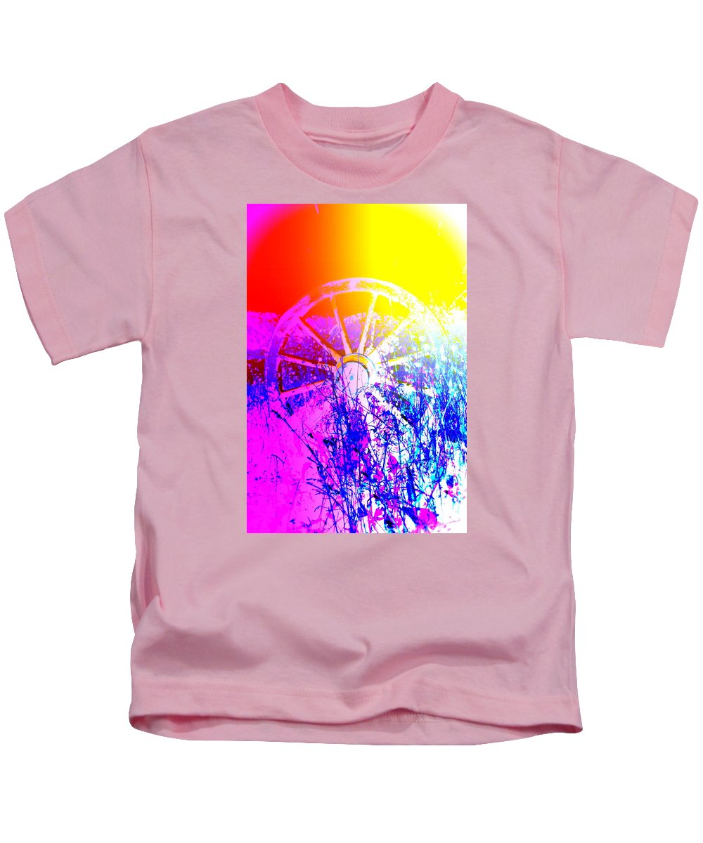 Wheel Kids T-Shirt featuring the photograph I Have A Wheel Of Colors But It's Standing Still by Hilde Widerberg