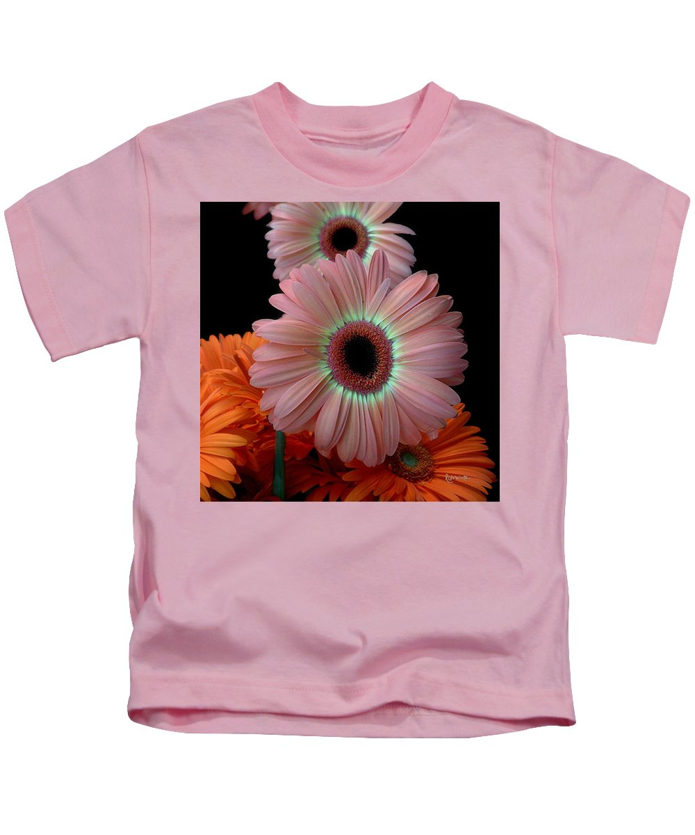 Gerberas Kids T-Shirt featuring the photograph Third Place by RC DeWinter