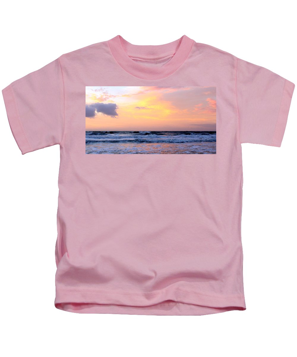 Topsail Kids T-Shirt featuring the photograph Topsail Island Pastel Sunrise by Rand Wall