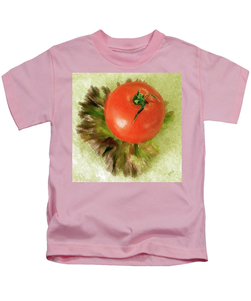 Still Life Kids T-Shirt featuring the photograph Tomato And Lettuce by Ben and Raisa Gertsberg