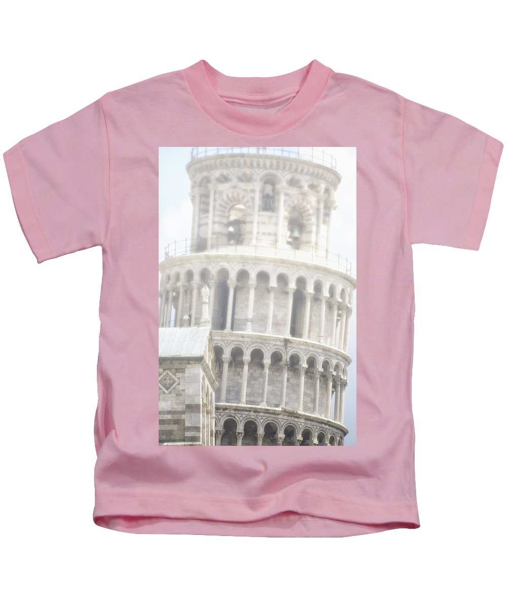 Travel Kids T-Shirt featuring the photograph Tower And Fog by Claudio Bacinello