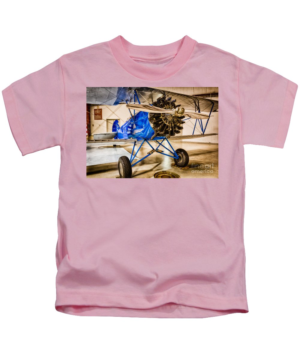 Aircraft Kids T-Shirt featuring the photograph Travel Air 4000 by Inge Johnsson