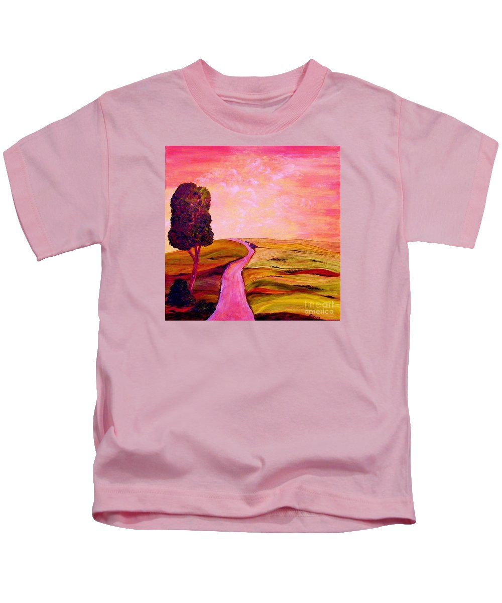 Tuscany Kids T-Shirt featuring the painting Tuscan Skies ... An Impressionist View by Eloise Schneider Mote