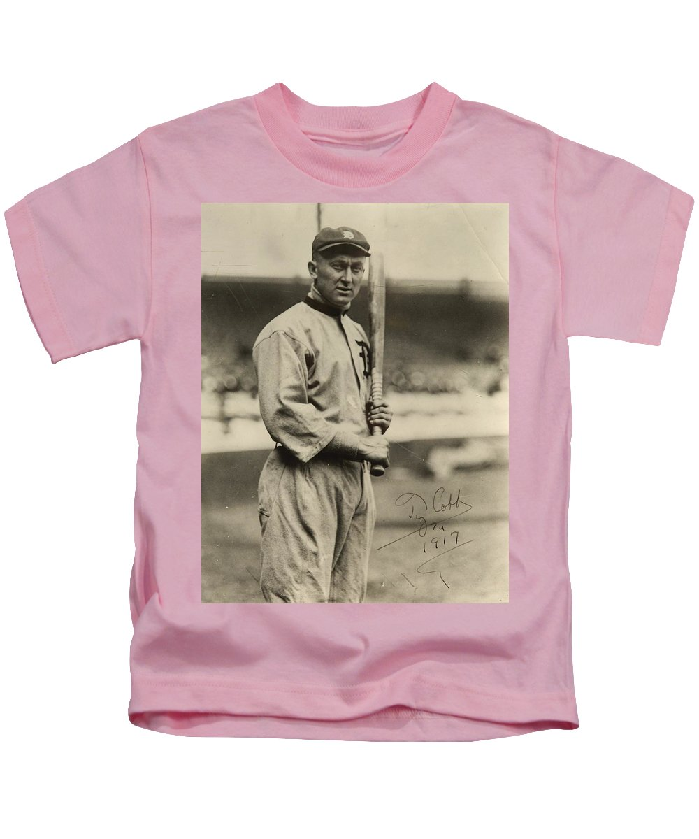 Ty Kids T-Shirt featuring the photograph Ty Cobb Poster by Gianfranco Weiss