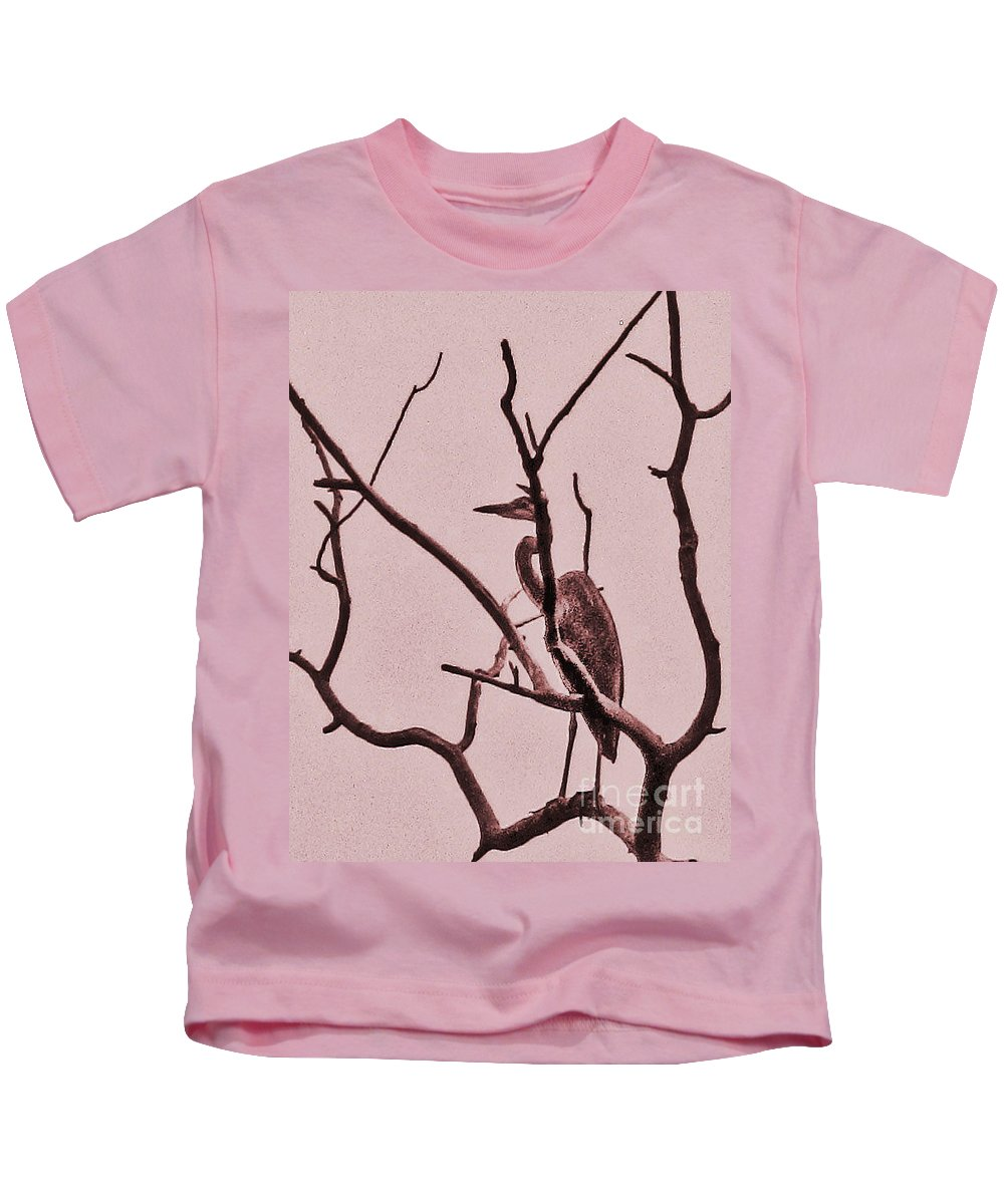 Tree Kids T-Shirt featuring the photograph Unknown Bird by Minding My Visions by Adri and Ray