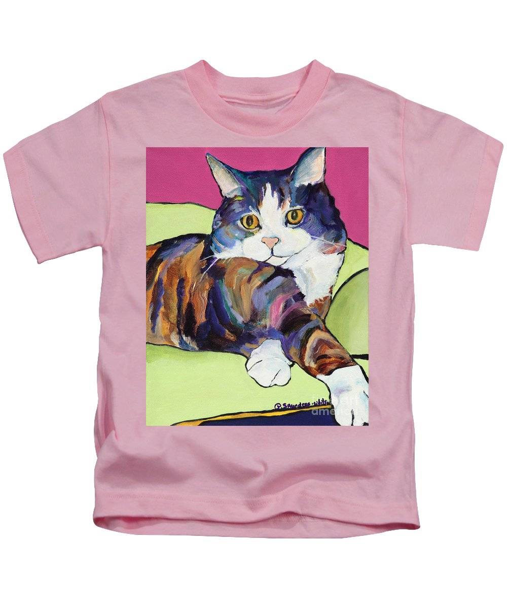 Pat Saunders-white Canvas Prints Kids T-Shirt featuring the painting Ursula by Pat Saunders-White