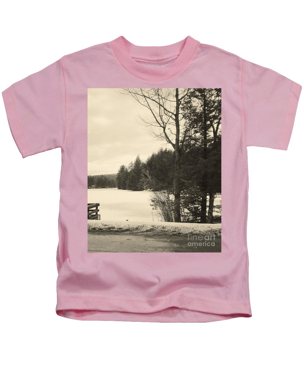Vermont Kids T-Shirt featuring the photograph Vermont Winterland by Christy Gendalia