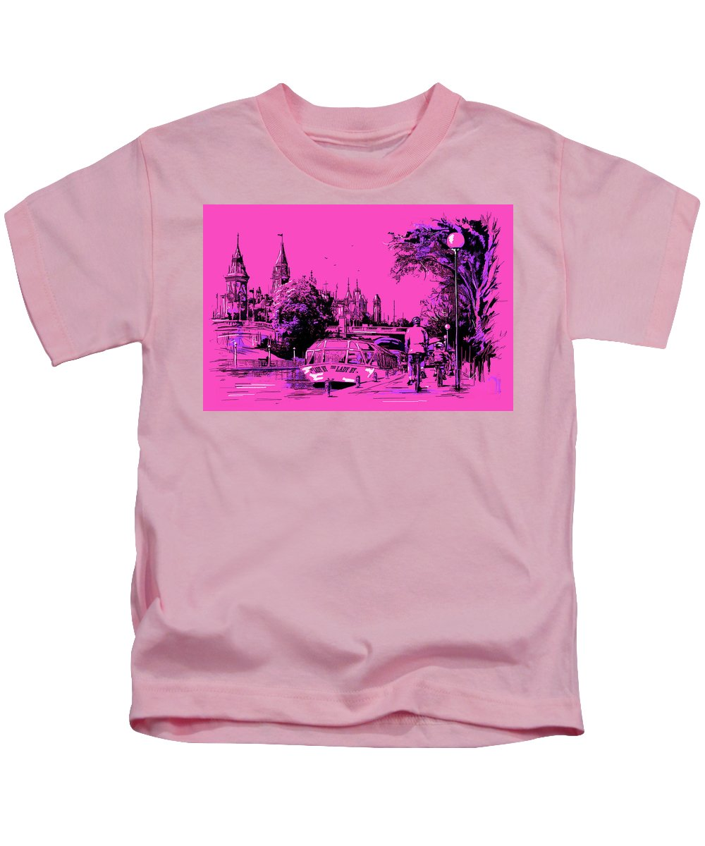 Vancouver Kids T-Shirt featuring the painting Victoria Art 012 by Catf