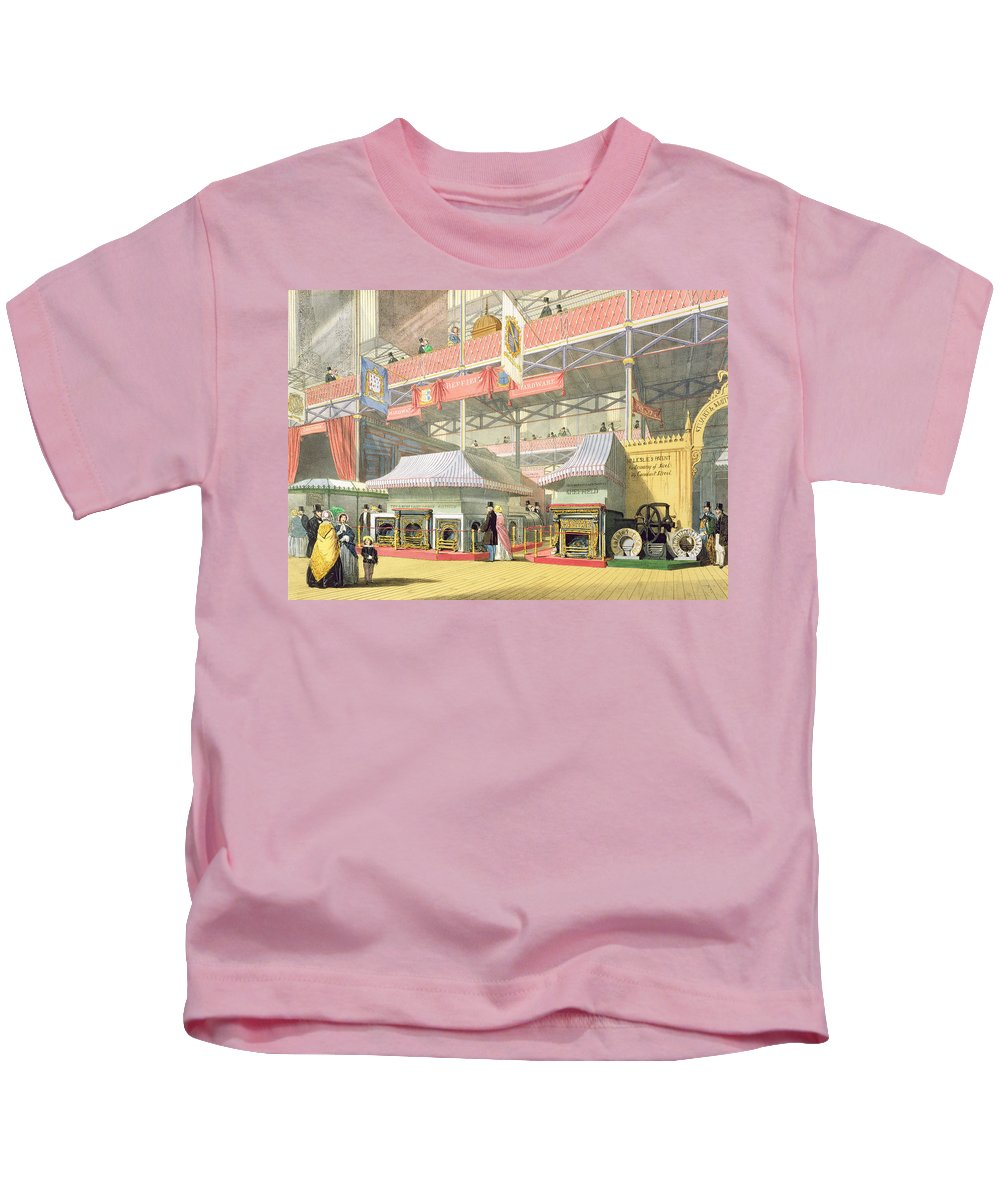 Crystal Palace Kids T-Shirt featuring the drawing View Of The Sheffield Hardware Stand by English School