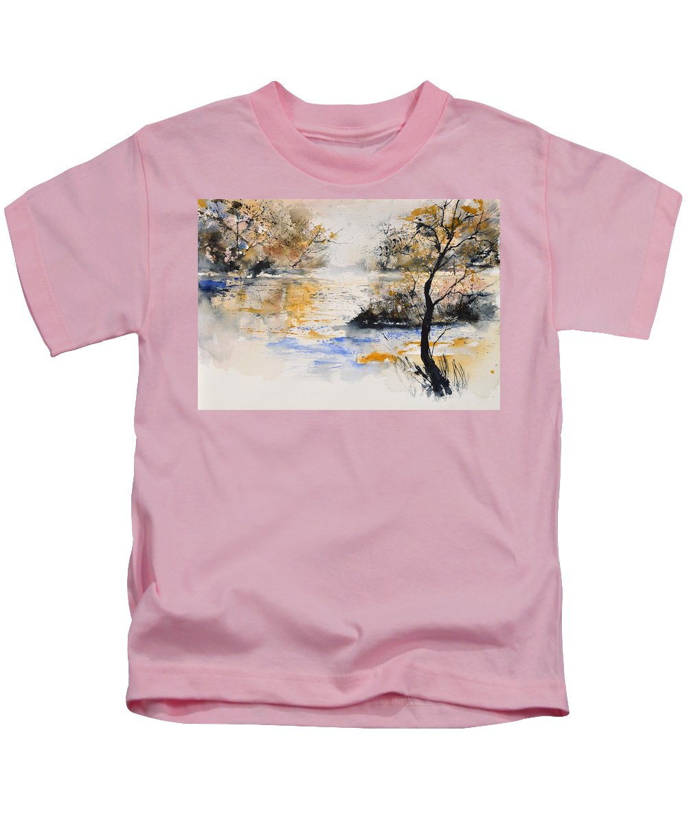 Landscape Kids T-Shirt featuring the painting Watercolor 45417042 by Pol Ledent