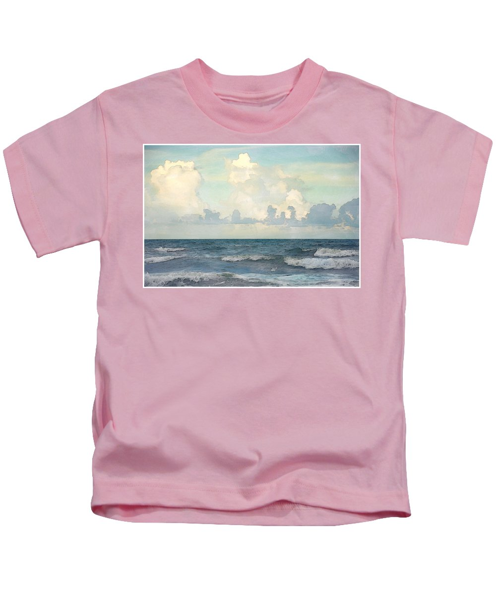 Landscape Kids T-Shirt featuring the photograph Watercolor Photograph Of Atlantic Ocean by Louise Hill