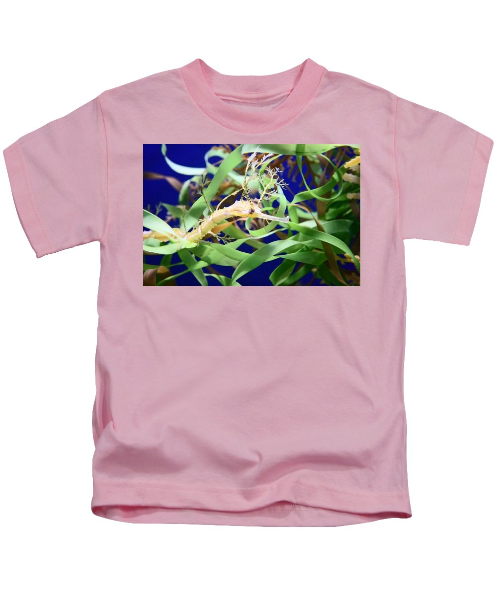 Weedy Sea Dragon Kids T-Shirt featuring the photograph Weedy Sea Dragon by Ellen Henneke