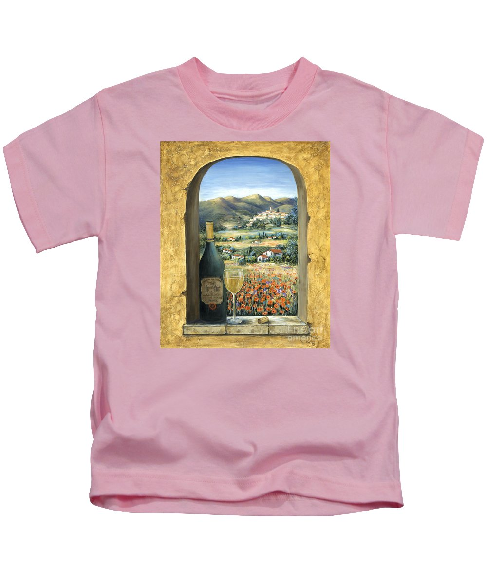 Wine Kids T-Shirt featuring the painting Wine And Poppies by Marilyn Dunlap