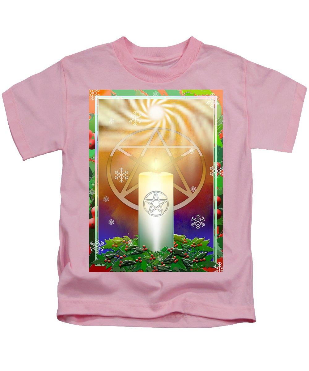 Yule Kids T-Shirt featuring the digital art Yule Sun by Melissa A Benson