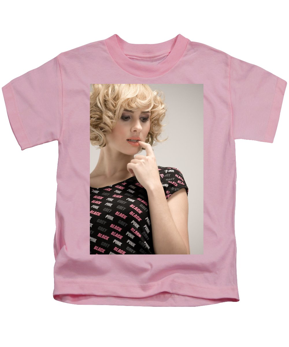 Fashion Kids T-Shirt featuring the photograph Blond Lady by Ralf Kaiser