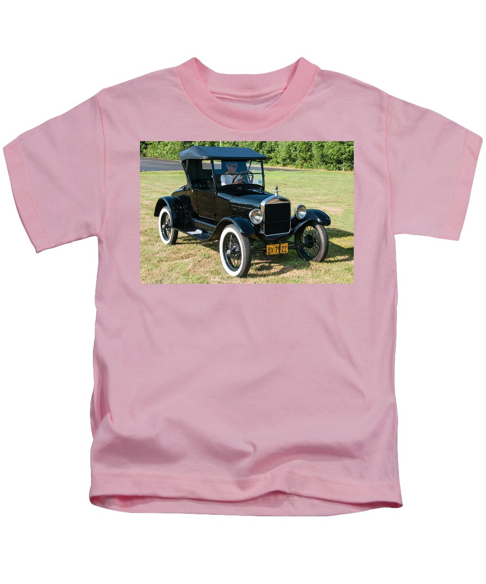 1927 Ford Kids T-Shirt featuring the photograph 27 Ford by Guy Whiteley